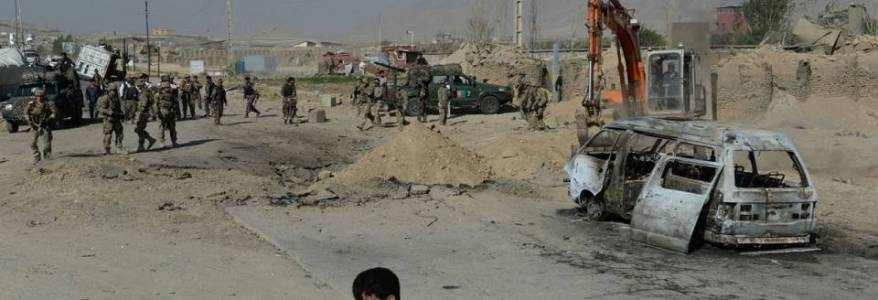 Suicide car bomb hits security checkpoint in Maidan Wardak province in Afghanistan