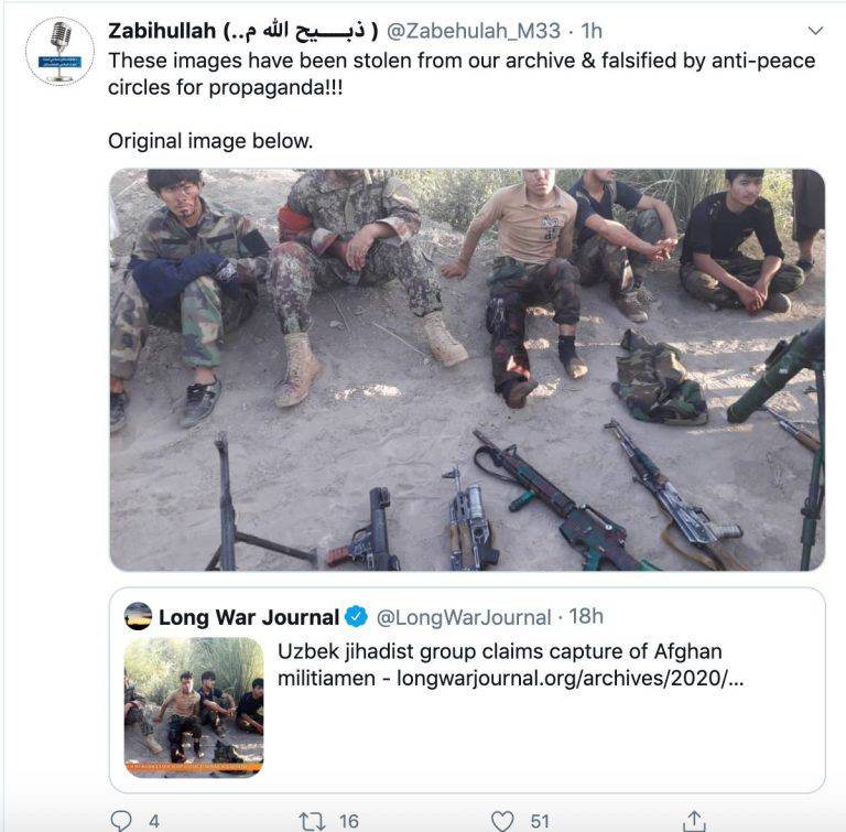 GFATF - LLL - Taliban terrorists attempt to cover up images posted by an Uzbek jihadist group in Afghanistan 1