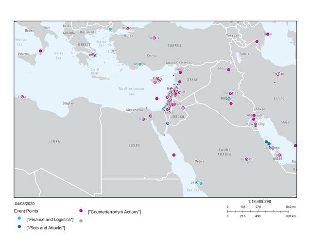 GFATF - LLL - Five maps that show the spreading of Hezbollah activities 1