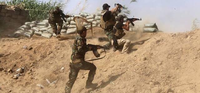 Improvised explosive device blast injured two Iraqi soldiers in Saladin