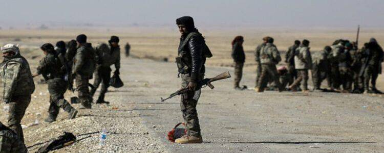 Six Syrian regime soldiers slaughtered by the Islamic State terrorist group in eastern Deir Ezzor