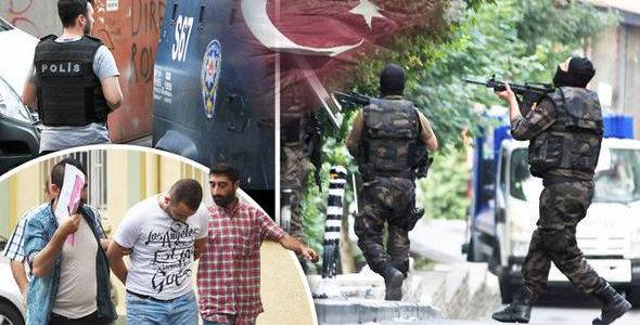 Turkish police arrested eleven Islamic State terror suspects