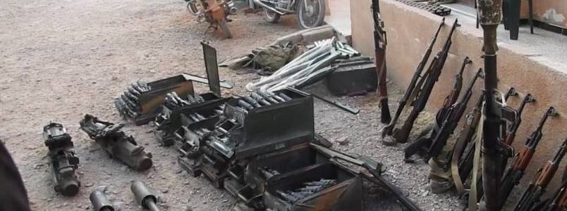 Islamic State terrorist attack and seize Syrian military equipment in the Hama desert