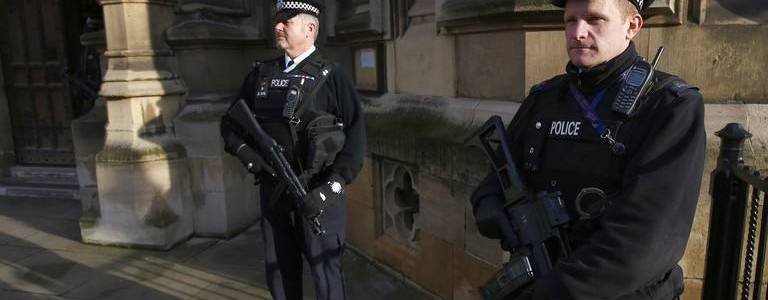 London's Metropolitan Police arrested two men on suspicion of terrorism offence in Westminster