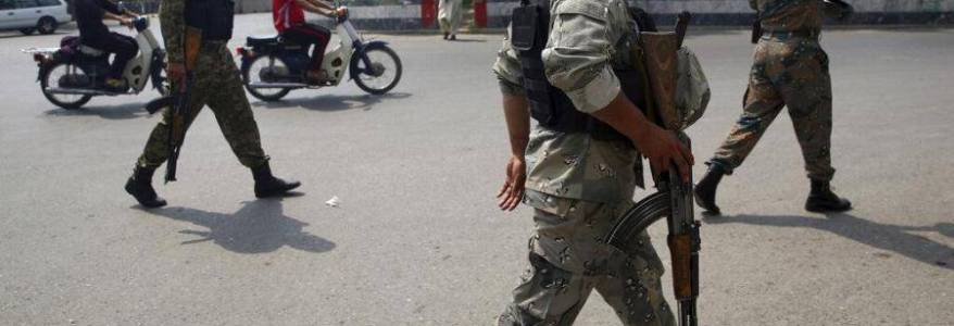 Afghan police forces arrested four terrorists including top commander in Pakistan