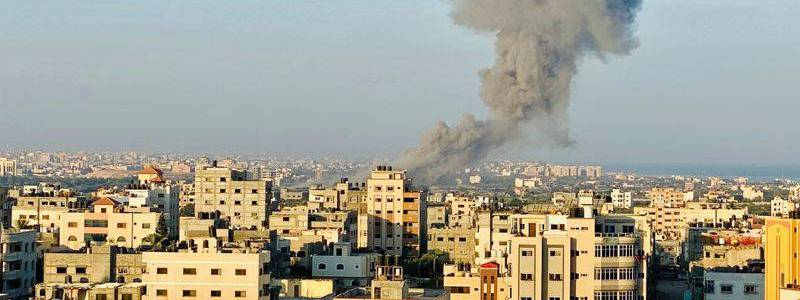 Woman dies from fall while running to shelter as Hamas rockets slam into Israel