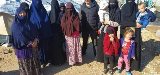Two Ukrainian women with seven children freed from Syria camp for Islamic State families
