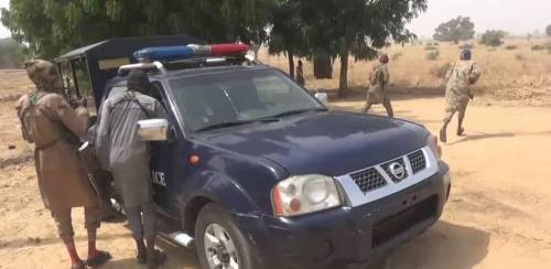 Boko Haram terrorists captured and destroyed police vehicles in Borno