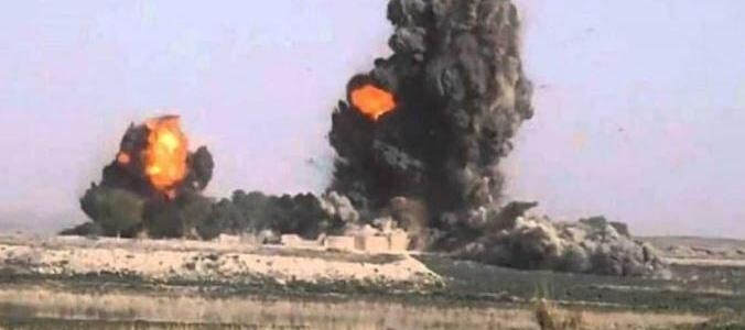 Four militants of Islamic State group killed in airstrike