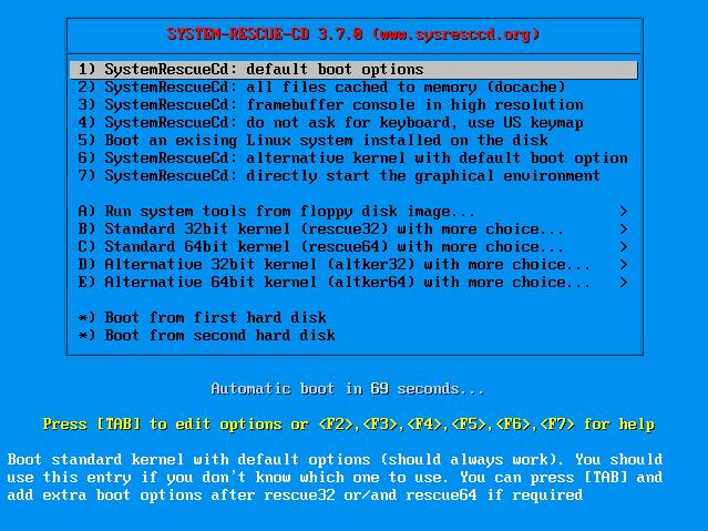 SystemRescueCD1_PreBoot