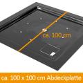 GFK-Abdeckung 100 x 100 cm