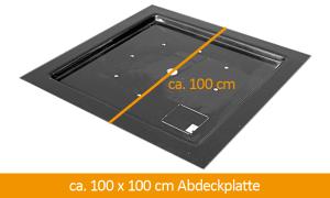 GFK-Abdeckplatte 100 x 100 cm
