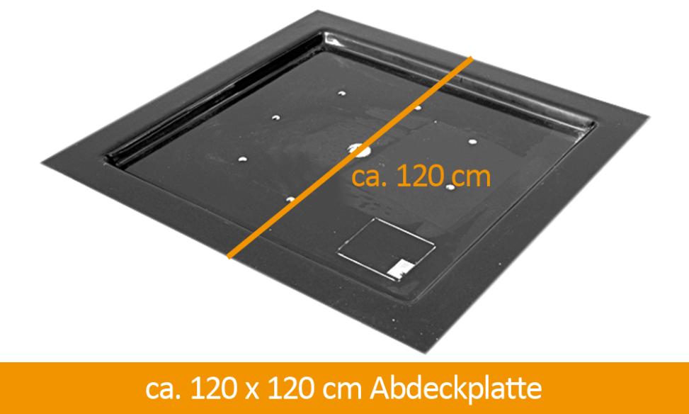 GFK-Abdeckung 120 x 120 cm