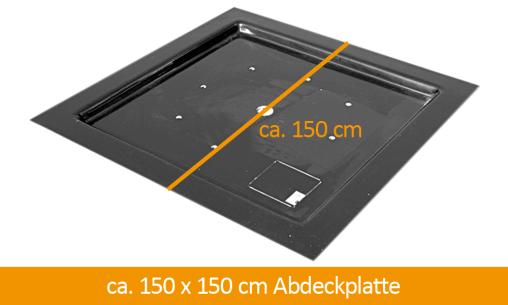 GFK-Teichabdeckung 150 x 150 cm