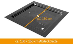 GFK-Abdeckplatte 150 x 150 cm