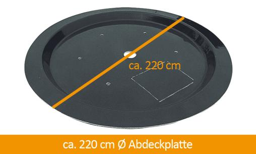 GFK-Beckenabdeckung 220 cm