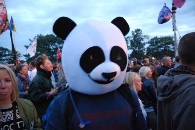 En glad panda havde også fundet vej til Orange