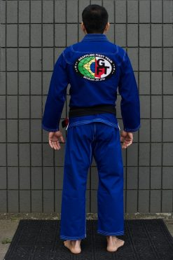 GFTeam Canada mens blue gi white accent back