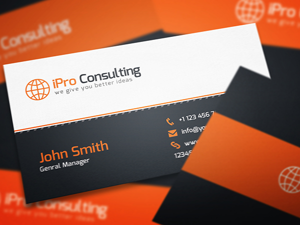 Consulting Business Card Psd Template Free Graphics