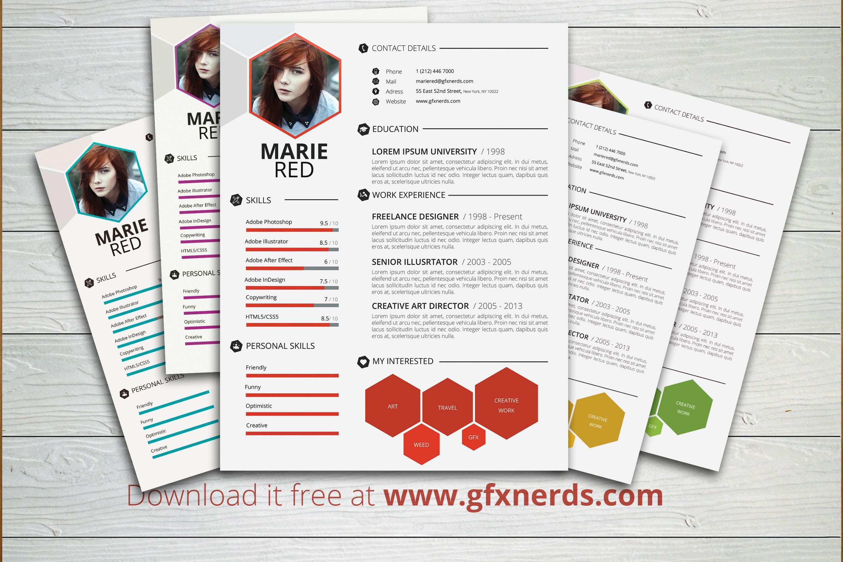 Clean professional resume template psd free graphics yelopaper Images