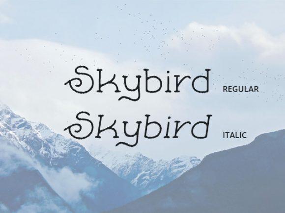 skybird-free-font-rough-580x435