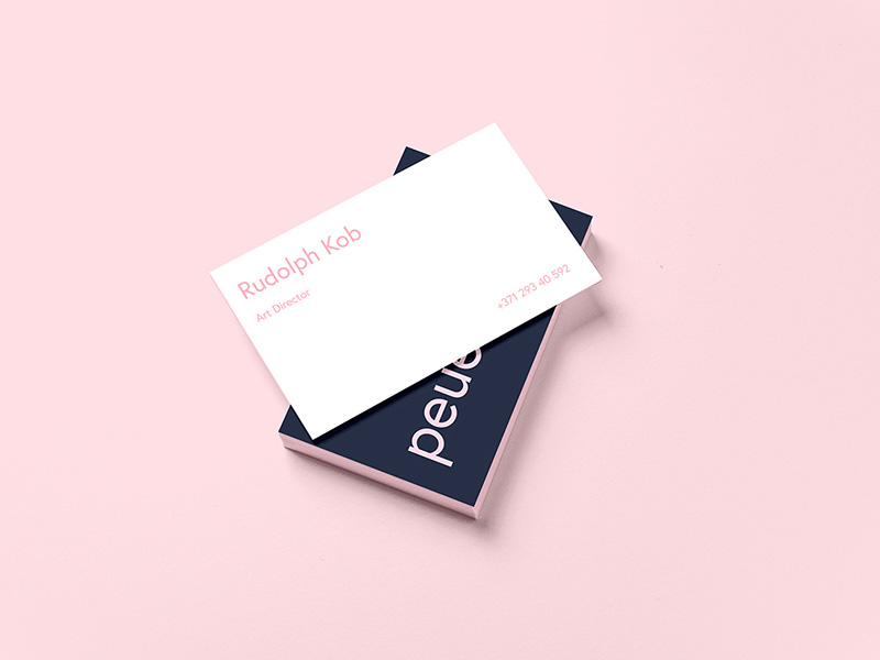Peue realistic business card mockup free graphics peue realistic business card mockup reheart Images