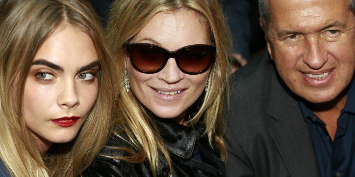 Cara Delevingne, Kate Moss und Mario Testino