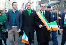 Leo Varadkar bei der Sr.-Patricks-Parade in New York
