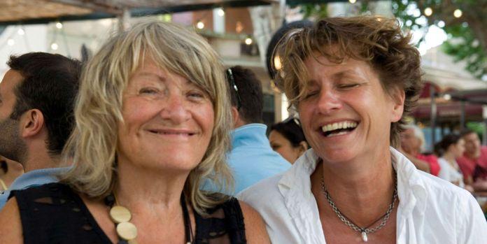 Alice Schwarzer und Bettina Flitner