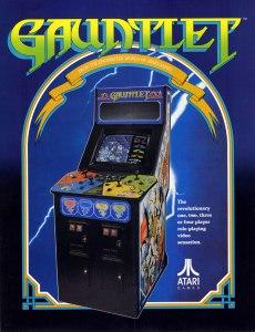 Gauntlet arcade game flyer