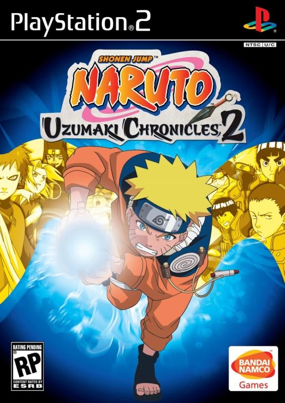 Naruto Uzumaki Chronicles 2 ps2 box art