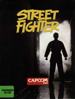 Street Fighter c64 box art