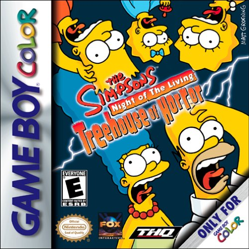 The Simpsons: Night of The Living Treehouse of Horror Game boy color box art