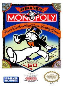 Monopoly NES box cover
