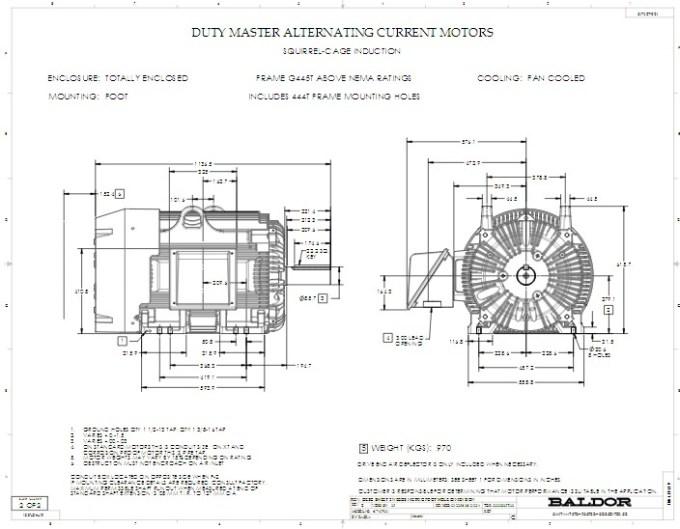 Em T Baldor Three Phase Totally Enclosed Foot Mounted Hp Rpm T Frame Upc on Baldor Ac Motor Diagrams