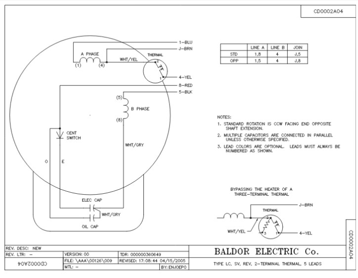l1410tm baldor single phase open foot mounted 5hp 1725rpm 184t frame upc 781568101667 3 baldor dc motor wiring diagrams baldor motor lookup \u2022 205 ufc co Baldor 3 Phase Wiring Diagram at mifinder.co