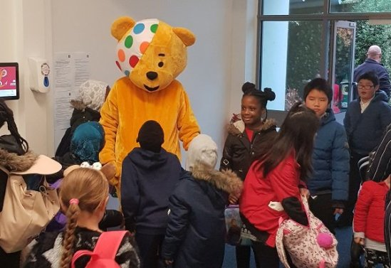 Pudsey came for a visit!