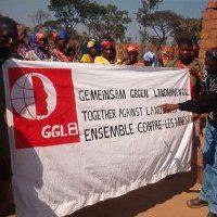 Angola_Projektfeier mit GGL-Transparent