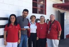 Mary Moreno, CR Rosarito President; Contractor, Luis Boroquez; Maricella Maciel, Hospital Representative; and Board members Terry D'Angona and Jerry Allen.