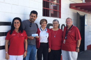 Mary Moreno, CR Rosarito President; Contractor, Luis Boroquez; Maricella Maciel, Hospital Representative; and Board members Terry D'Angona and Jerry Allen.