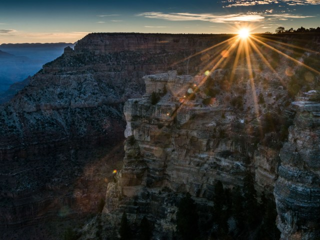 sunrise grand canyon mather point nov 2017