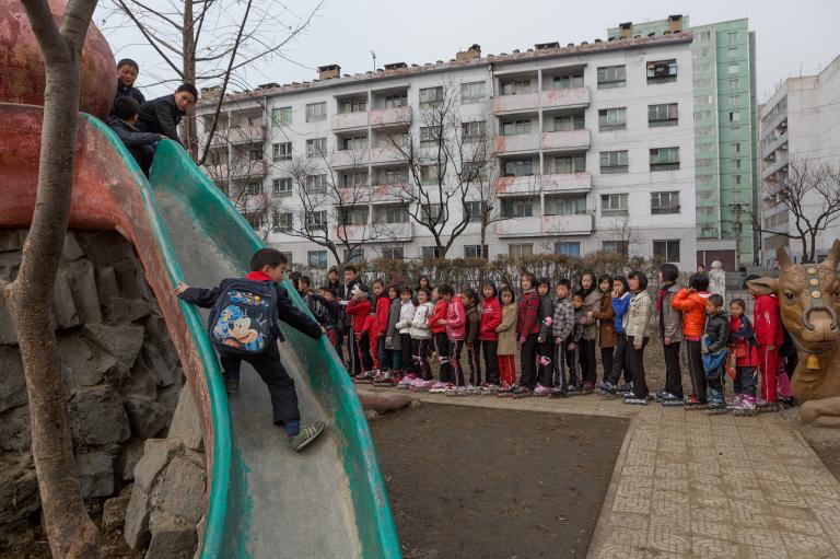 north korean children playground
