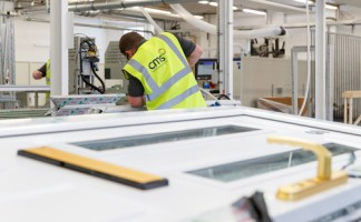Inside the new CMS Window Systems factory in Kirkcaldy, which opened in June 2018 as part of its investment programme and is a dedicated production facility for doors.