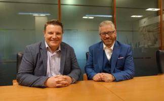 Left to right, Gareth Jones with Brian McDonald.