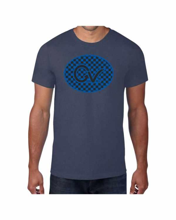 Good Vibes Blue Black Checker Blue T-shirt