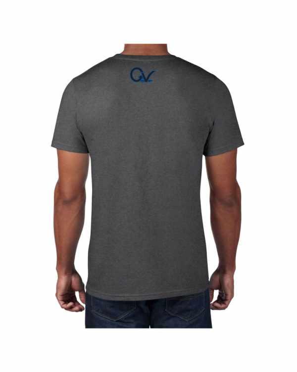 Good Vibes Blue Black Checker Gray T-shirt