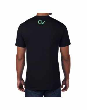 Good Vibes Green GV Logo Black T-shirt