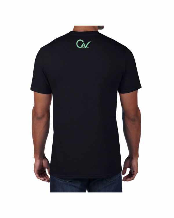 Good Vibes Green GV Logo Black T-shirt