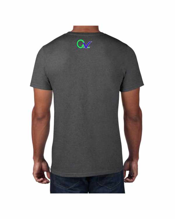 Good Vibes Green Purple Logo Gray T-shirt