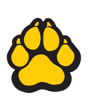 "Panther Paw Magnet or Sticker for Indoor or Outdoor Use 5"" x 5"""